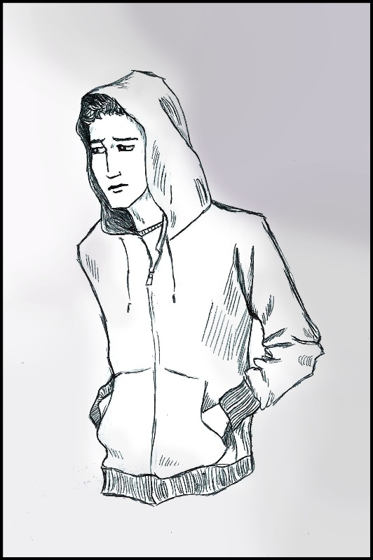 Hoodie by Caitlin Hogan illustration for story Cartman - Richard Natale 2011